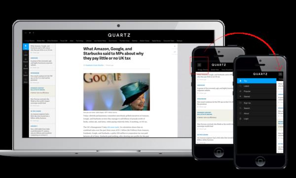 менюшка в Quartz на маленьких экранах спрятана под кнопкой-ссылкой